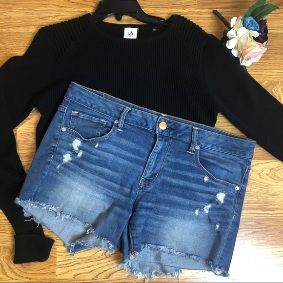American Eagle Outfitters Pants - American Eagle 🦅 cutoff Jean shorts. Size 14
